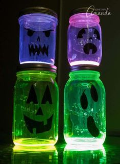 glow jars how to make #glowstickjarsdiy