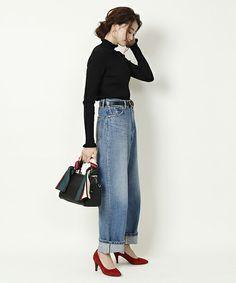 Workwear Fashion, Denim Fashion, Fashion Outfits, Womens Fashion, Japan Outfit, Tumblr Outfits, Minimalist Wardrobe, Dress Codes, Work Wear