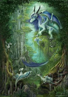 M y t h i c a l : A love of dragons  Harmonie - Walddrachen by ArkaEdri.deviantart.com