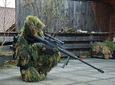 The Barrett M107 .50 cal sniper rifle. Because sometimes a phone call isn't enough.