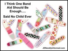 The truth about kids and Band Aids #funny #parenting