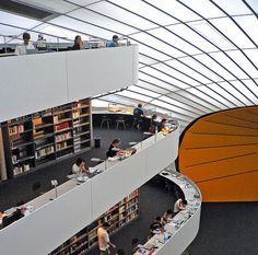 Library for the Faculty of Philology at the Free University Berlin, Germany  (Architect: Norman Foster)