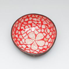 Lacquered coconut shell bowl with mother of pearl by Namigurumi, $6.50