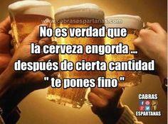 Cerveza engorda, gran mentira