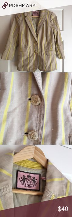 Juicy Couture Lightweight Blazer - Juicy Couture Tan+Yellow Blazer - Size 8 - NEVER WORN - Lightweight, perfect for all seasons! - Looks great with everything! - will measure on request! Thank you! 🌻 Juicy Couture Jackets & Coats Blazers