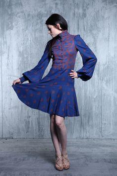 Vintage blue Biba dress