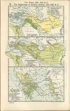 """""""Historical Atlas"""" by William R. Shepherd, New York, Henry Holt and Company, 1923"""" map 5"""