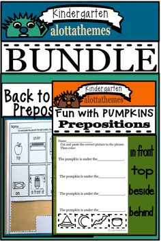 Twice the great fun! Not only do you have the popular back to school resource you can use in September you can continue the excitement into October with the Halloween resource. Prepositions, Cut And Paste, School Resources, Back To School, Kindergarten, September, Language, Popular, Halloween