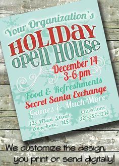Holiday Open House ~ Fair ~ Christmas Bazaar ~ 5x7 Invite ~ 8.5x11 Flyer ~ bc905f739