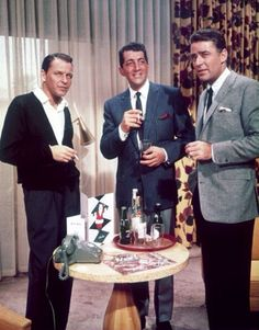 Frank and Dean with Peter Lawford.