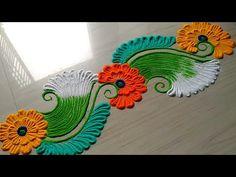 Border rangoli designs for independence August rangoli design Easy Rangoli Patterns, Easy Rangoli Designs Videos, Rangoli Ideas, Rangoli Designs Images, Beautiful Rangoli Designs, Silk Painting, Painting & Drawing, Indian Rangoli, Easy Diy Christmas Gifts