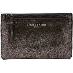 Liebeskind Kiwi R Vintage Leather Purse Pouch , Black Glitter featuring polyvore, beauty products, beauty accessories, bags & cases, black glitter, toiletry bag, travel toiletry case, dop kit, travel bag and wash bag