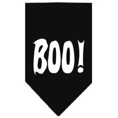 Boo! Screen Print Bandana Black Large