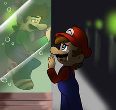 Luigi...dont go.. by raygirl12 on deviantART