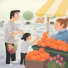 Hot Dots Tots Rainbow Salad - Livia Coloji #tots #toddlers #babies #children #fruit #vegetables #salad #healthyeating #childrensbook #illustration #kidlitart #liviacoloji