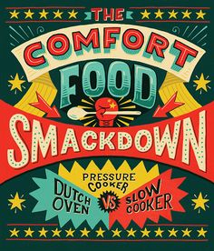 The Comfort Food Smackdown on Behance by Mary Kate McDevitt