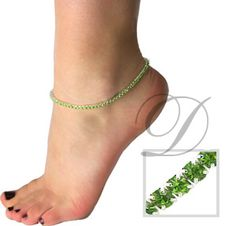 Crystal Stretch Anklets in a variety of colors!