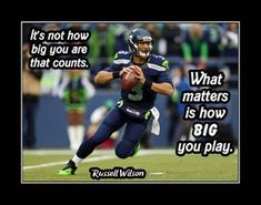 Inspirational Football Quotes, Motivational Wall Art, Wall Art Quotes, Quote Wall, Nfl Quotes, Athlete Quotes, Wilson Seahawks, Seahawks Football, Seattle Seahawks
