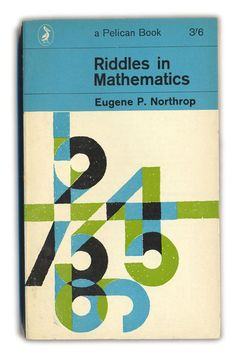 Riddles in Mathematics - Typographic Book Covers