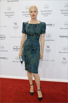 Franziska Knuppe. Fashion Awards by Peek & Cloppenburg and Fashion ID.