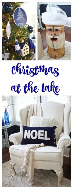 Christmas in the Family Room at the Lake