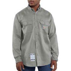Flame-Resistant Lightweight Twill Shirt - The Brown Duck