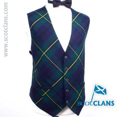 Johnstone Tartan Custom Waistcoat Free Worldwide Shipping Available