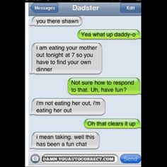 Autocorrect! Laughed so hard..hoping not offending anyone.. Lol