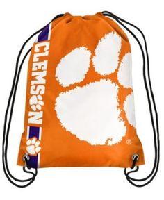 Forever Collectibles Clemson Tigers Big Logo Drawstring Bag - Orange