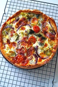 vegetarische quiche met broccoli