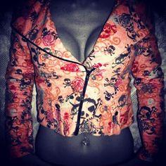 www.missareyl.etsy.com #skulls #motojacket #pink #hardcorebombshellclothing #missareyl #custom #metalchic #metalfashion