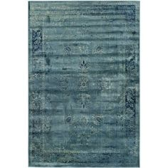 Safavieh Vintage Oriental Turquoise Distressed Silky Viscose Rug (5'3 x 7'6) - Free Shipping Today - Overstock.com - 15691843 - Mobile
