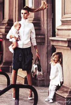 when i have kids.. this will be me haha :) Maryna Linchuk/Vogue Germany May 2012