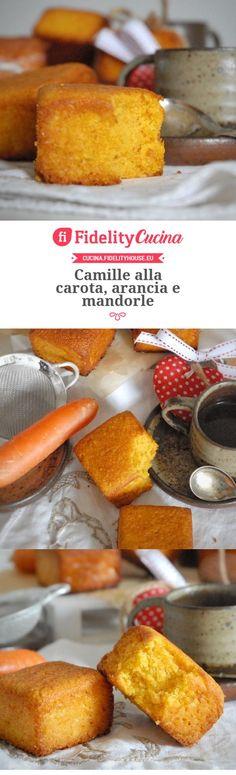 Camille alla carota, arancia e mandorle
