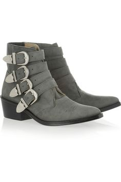 TOGA PULLA Buckled suede ankle boots Buckle Ankle Boots c1ea08d49f