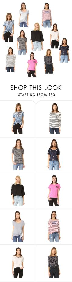 """""""Trendy Tees..**"""" by yagna ❤ liked on Polyvore featuring Raquel Allegra, Petit Bateau, Prince Peter, Splendid, SJYP, Marc Jacobs, Three Dots, Sundry, James Perse and Rebecca Taylor"""