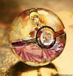 Lucy in a pokeball - pokemon and fairy tail crossover #anime #manga