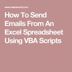 Our code template will help you set up automated emails from within Excel using Collaboration Data Objects (CDO) and VBA scripts. Scripts, Coding, Trends, Programming