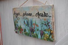 D Craft Affairs Handmade Decor for Every Season, wall plaques, key holder, shabby style decor, cottage style, decoupage , rustic wall signs