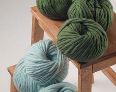 18 microns Chunky yarn Merino wool yarn Super by CosenzaStore