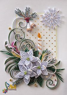 Neli is a talented quilling artist from Bulgaria. Her unique quilling cards bring joy to people around the world. Quilling Work, Neli Quilling, Quilling Craft, Quilling Ideas, Quilling Christmas, Christmas Paper, Christmas Crafts, Paper Quilling Cards, Paper Quilling Patterns