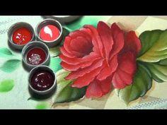 Marcos Rodrigues Pintura de rosa em tecido Parte 4 - YouTube