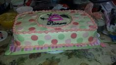 """A New Little Princess"" baby shower cake"