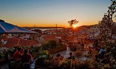 Rooftop terrace at Park Bar, Lisbon, Portugal