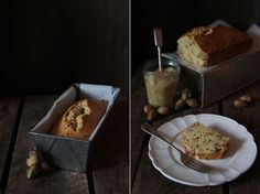 Kentish cobnut cake with apple compote
