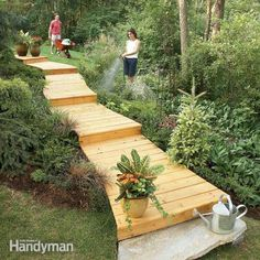 Idea to make the steep slope on the side of our house more manageable.
