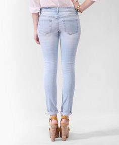 very light wash jeans from f21
