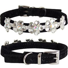 "WwWSuppliers Adjustable Hot Pink Velvet PU Suede Leather Bling HEART FLOWERS Edition Luxury Fashion Cute Collar for Dogs, Puppies, Cats or Kittens (SMALL 7 1/2""- 10 1/2"") (Black) WwWSuppliers http://www.amazon.com/dp/B00TROIA2A/ref=cm_sw_r_pi_dp_8W2xwb11M0NW7"