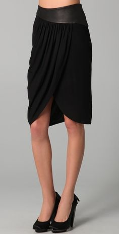 Alice + Olivia Kimber Asymmetrical Drape Skirt thestylecure.com