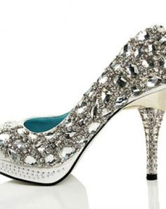 "#bling #brayola..note the lining is ""something blue"" too ..these are stunners for a wedding shoe!"
